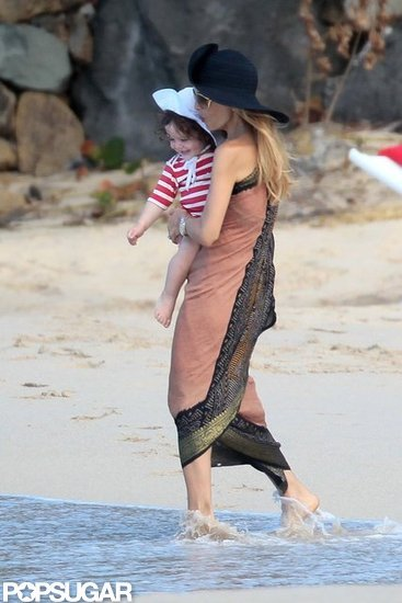Rachel Zoe took Skyler into the water.