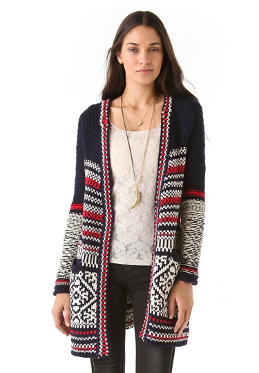 How adorable is this Free People Annabelle Cardigan ($139, originally $198) with your slippers and leggings at home — or with skinny jeans and ankle boots around town.