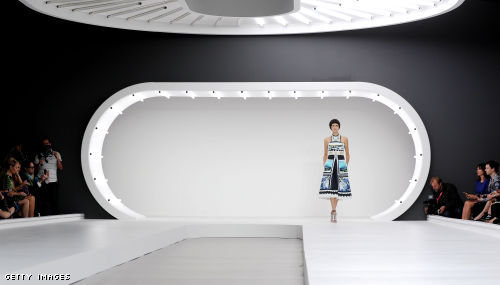 Mary Katrantzou London Fashion Week fashion show catwalk report Spring Summer 2013