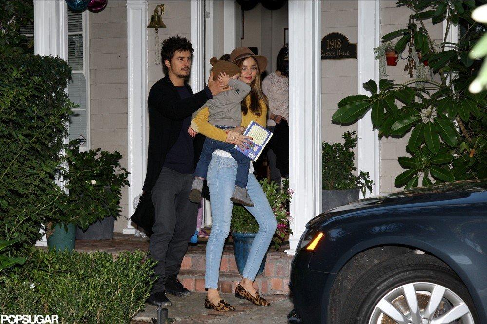 Miranda Kerr and Orlando Bloom Reunite in LA With Flynn