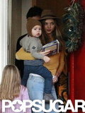 Orlando Bloom, Miranda Kerr, and Flynn Bloom were together in LA.