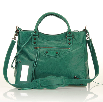 Nab the ultimate statement bag at Beyond the Rack's major Balenciaga bag sale. We love this refreshing green rendition ($1,200, originally $1,795), which, by the way, is right in line with Pantone's 2013 color of the year announcement.