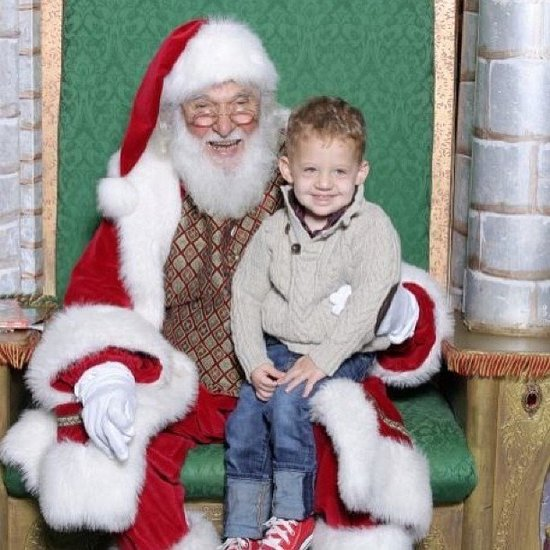 """Visiting with Santa!"" Source: Instagram user loveshine1"