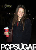 Katie Holmes Smiles on Her Way to Work — But Dead Accounts Is Closing Early