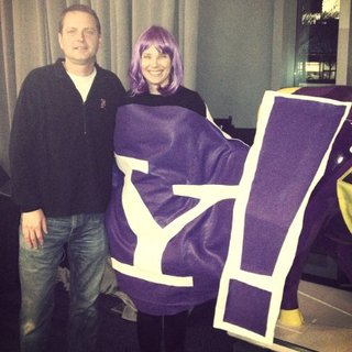 Marissa Mayer in Yahoo Costume