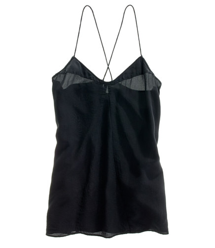 I love that this black Madewell silk cami ($72) blurs the line between what is strictly a pretty underthing and something that's classic and wearable. With its looser fit and sexy neckline paneling, I can already see that this camisole is perfect for layering for all seasons. — MT