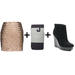 Who said sequin skirts are only good for the holidays? Wear yours with gray tights and black suede booties to downplay the sparkle. 
