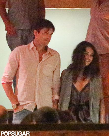 Mila Kunis and Ashton Kutcher had a dinner date in Brazil.