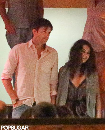 Mila Kunis and Ashton Kutcher had a dinner date in Brazil.