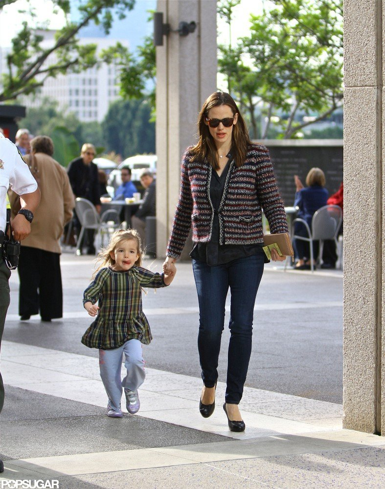 Jennifer Garner held hands with Seraphina Affleck on the way to a show.