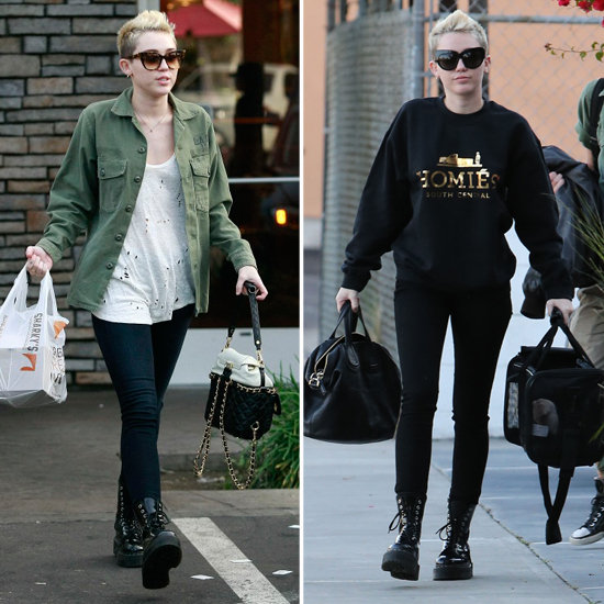 Miley cyrus out in la with her newest dog pictures