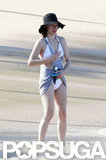Milla Jovovich hit the beach in Hawaii.