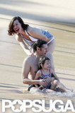 Milla Jovovich and her family vacationed in Maui in January.