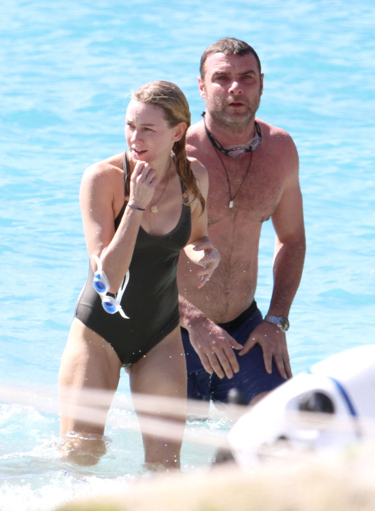 Naomi Watts and Liev Schreiber did some swimming.