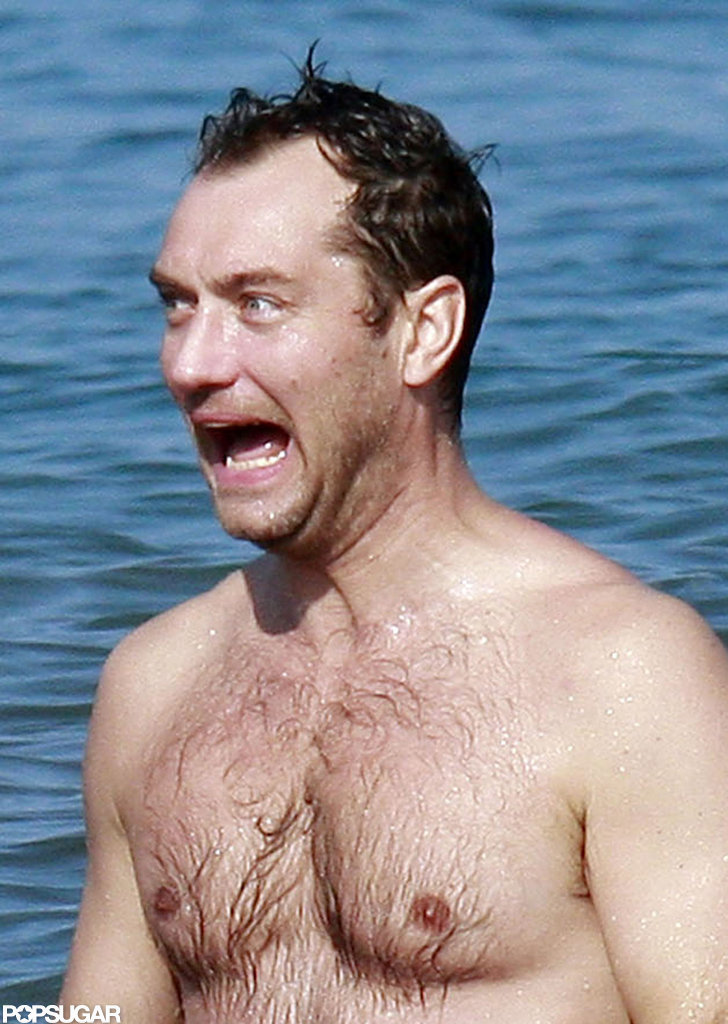 Jude Law made a funny face.
