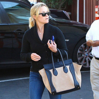Celebrities Carrying Celine Luggage Tote (Pictures)