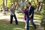 Johnny Pemberton, Lea Remini, and Kyle Bornheimer in Family Tools.