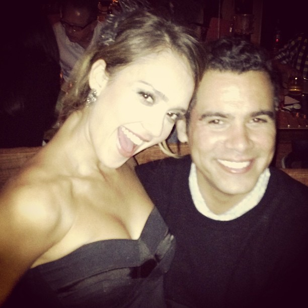Jessica Alba snapped a celebratory photo with husband Cash Warren. Source: Instagram user cash_warren