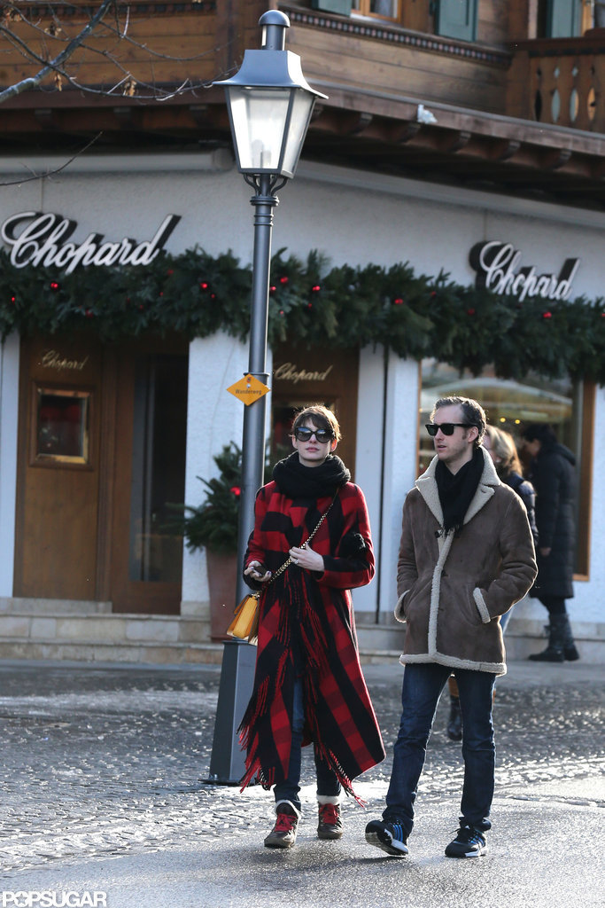 Anne Hathaway and Adam Shulman were together in Europe.