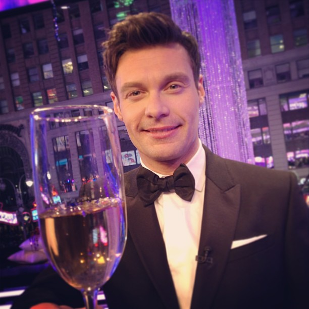 Ryan Seacrest wished his followers a happy new year. Source: Twitter user RyanSeacrest