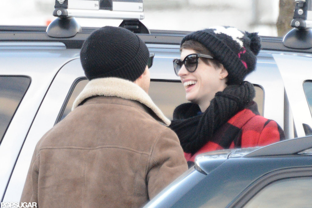 Anne Hathaway Rings in the New Year With Valentino and Her Husband