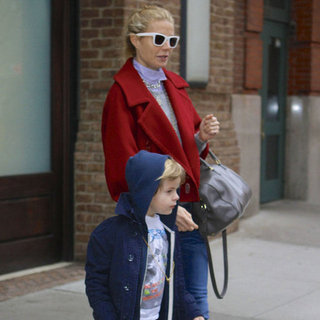 Pictures: Gwyneth Paltrow & Son Moses Martin In New York