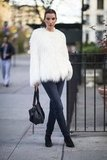 Embrace texture in the biggest, boldest way possible — with a furry chubby to dress up jeans and boots and beyond. Source: Le 21ème | Adam Katz Sinding