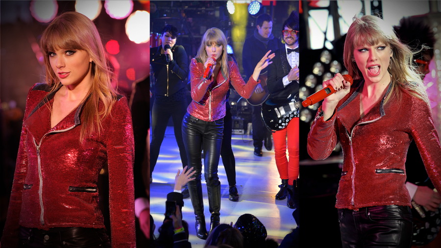 Taylor Swift Rocks Out in Red on NYE
