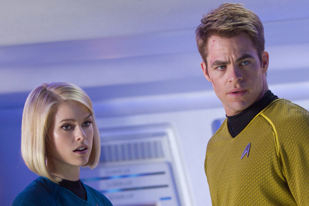 Alice Eve and Chris Pine in Star Trek Into Darkness.
