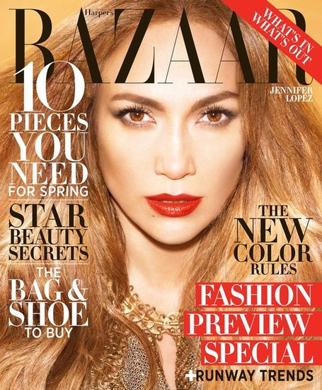 Jennifer Lopez graced the cover of Harper's Bazaar's February issue.