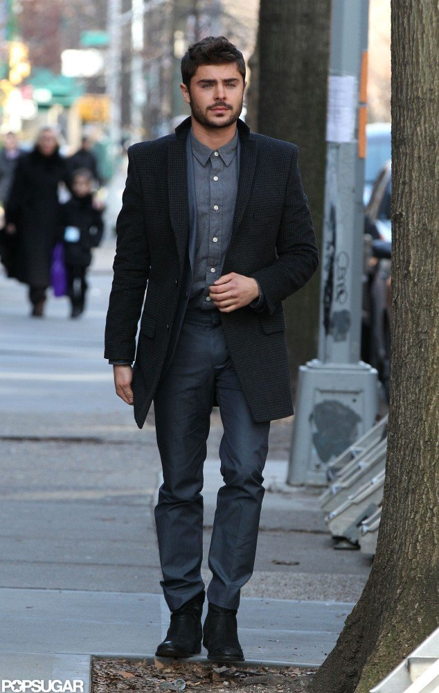 Zac Efron filmed scenes for  Are We Officially Dating? in Brooklyn, NY.
