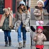 SJP, James Wilkie, and the Twins Stay Fashionably Warm in NYC