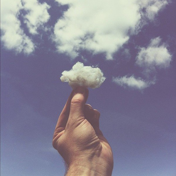 """Cotton Ball Cloud,"" 2012 Source: Instagram user brockdavis"