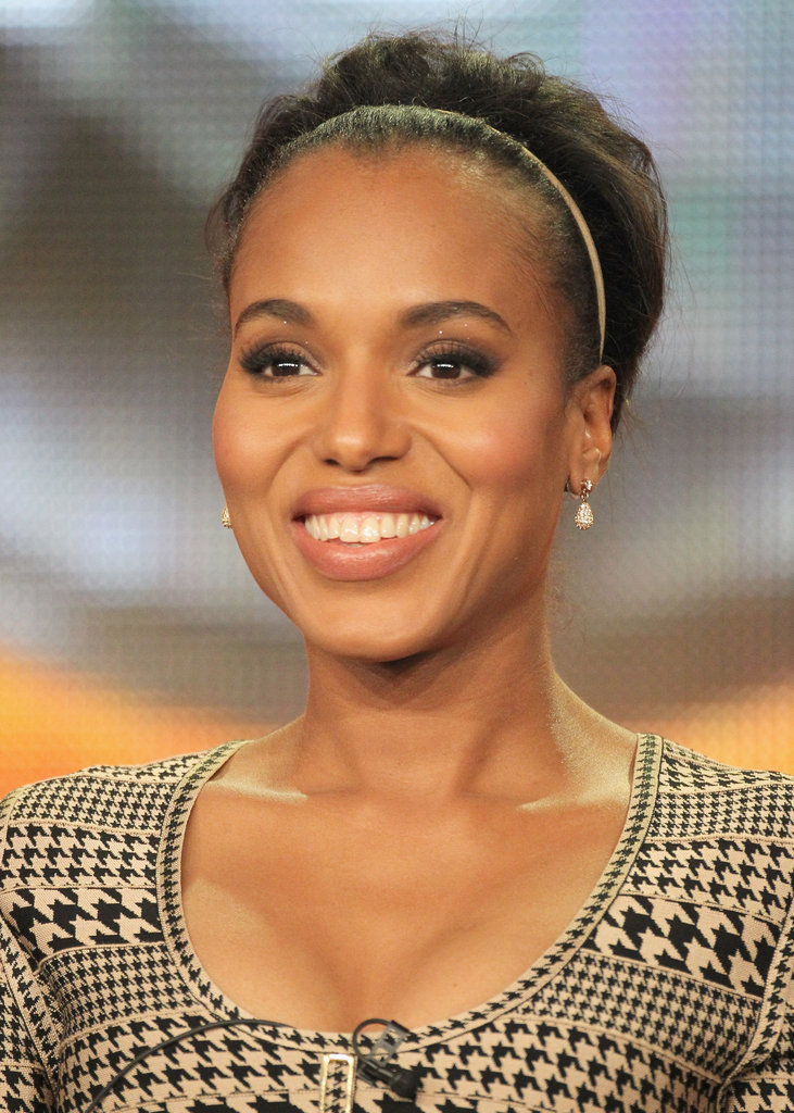 Kerry Washington proved even the slightest accessory can make all the difference. Update your weekend bun or ponytail with a thin headband, such as this studded, suede one from Tasha ($28). And if you want to add a little height like Kerry, backcomb your hair at the roots. Complete by spritzing your strands with hair spray before adding your headband.