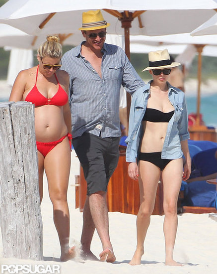 Michelle Williams and Pregnant Busy Wear Bikinis on the Beach With Jason