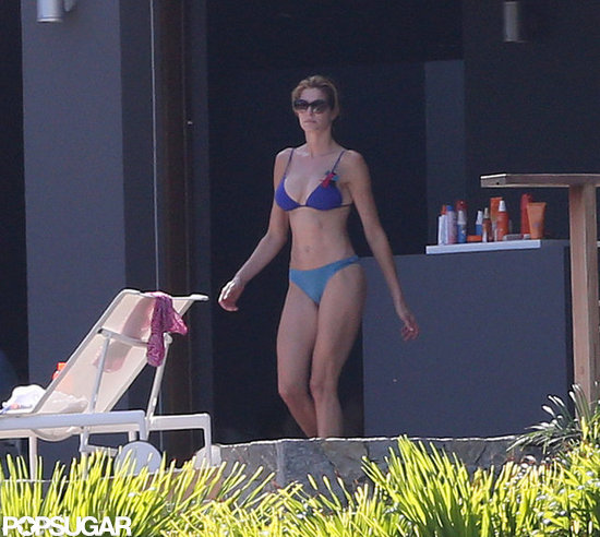 Stephanie Seymour flaunted her impressive bikini body.