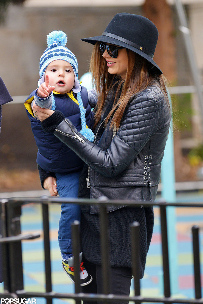 Baby Flynn and Miranda Kerr went to the playground together in early December 2012 while staying in NYC.