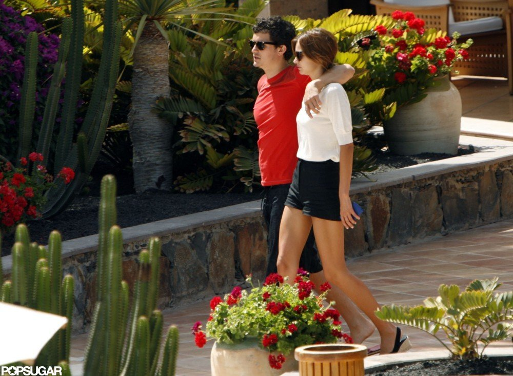 Orlando Bloom and Miranda Kerr were at the Gran Hotel Residencia in Gran Canaria, Spain, in June 2008.