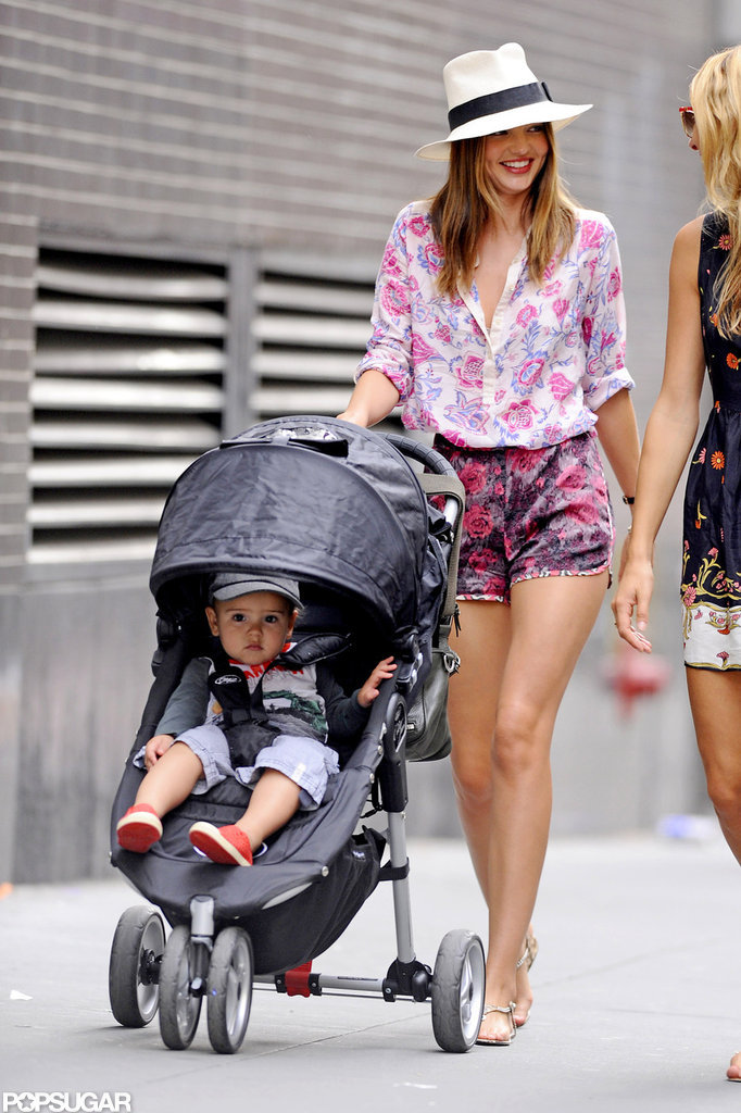 In September 2012, Miranda Kerr took Flynn Bloom out for a stroll in NYC.