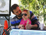 Ben Affleck let Seraphina wear his sunglasses.