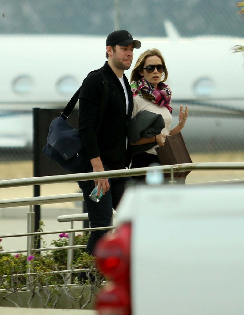 Emily Blunt and John Krasinski left Cabo.