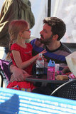Ben Affleck and Violet had a chat.