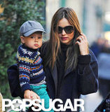 Flynn wore a charming cap when he and Miranda Kerr went out for a stroll in NYC in November 2012.