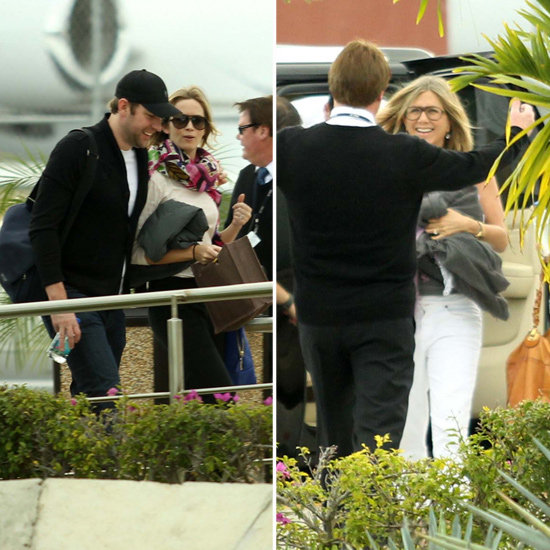 Jennifer Aniston and Emily Blunt Say Goodbye to Cabo With Their Men
