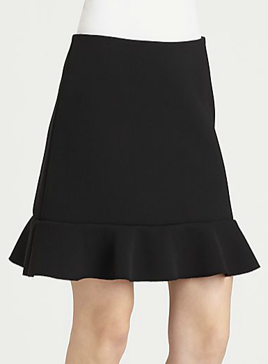 This Diane von Furstenberg ruffled skirt ($275) is a great base for a ladylike ensemble. You can sport it with everything from a basic tee to a chunky sweater to a sleek button-down.