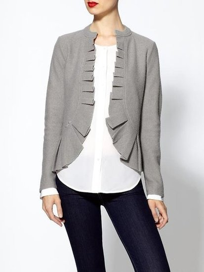 This Rachel Zoe ruffle cardigan ($50, originally $79) would be a great addition to your work wardrobe. It also comes in dark gray and red.