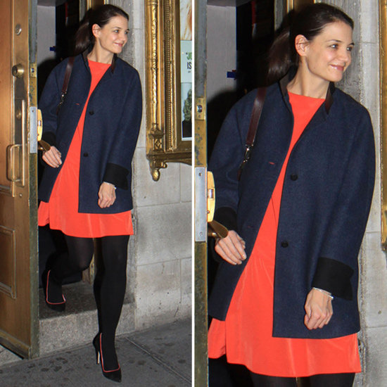 Katie Holmes showed us how to colorblock with ease.