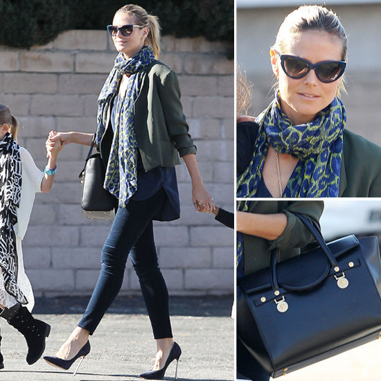 Style up your skinnies the Heidi Klum way for a cool yet sophisticated look.