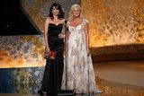 Tina and an expectant Amy took to the stage together while presenting an award at the 2008 Emmys.