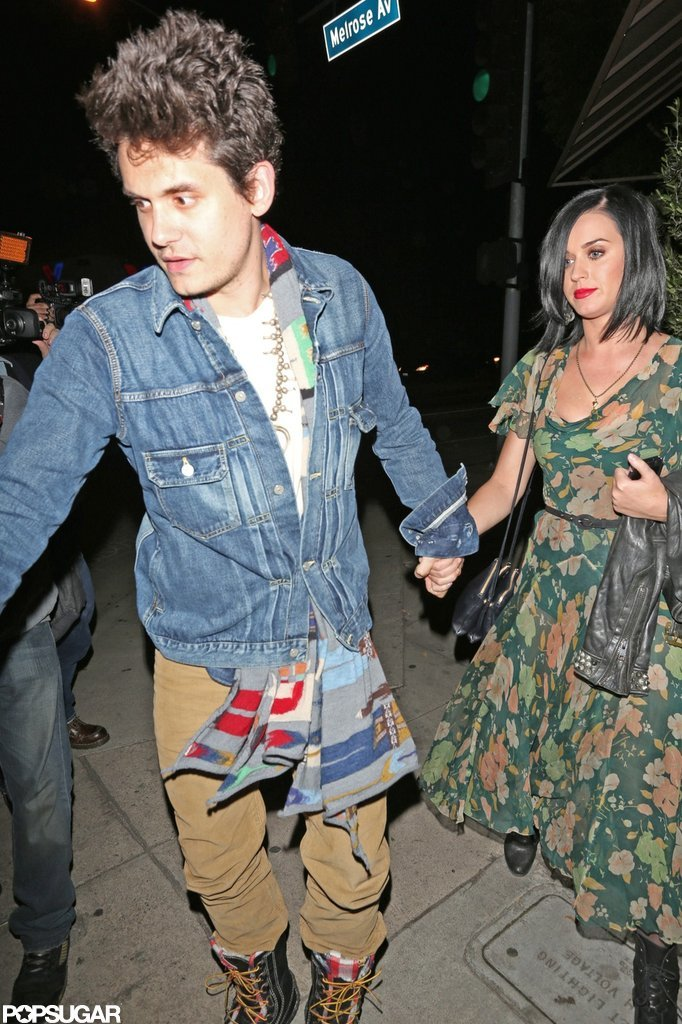 Katy Perry and John Mayer Follow Dinner With PDA